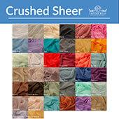 Crushed Sheer Voile Fabric by the Yard by Eastern Mills - 10ft Wide - Choice of Colors
