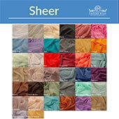 Sheer Voile Fabric by the Yard - 10ft Wide - Choice of Colors by Eastern Mills