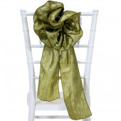 "DecoStar™ 9"" Crushed Taffeta Flower Chair Accent - Olive"