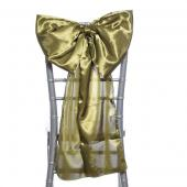 "DecoStar™ 14"" Satin Bow Chair Accent - Olive"