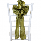 "DecoStar™ 9"" Satin Flower Chair Accent - Olive"