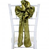 """DecoStar™ 9"""" Satin Flower Chair Accent - Olive"""