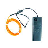 DISCONTINUED ITEM -  Battery-Operated Electroluminescent (EL) Wire - 6ft (1.8M) Long - Orange
