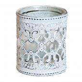 DecoStar™ Overlay Metal Celtic Scroll Candle Holder / Votive - 4.15""
