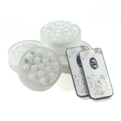 4 PACK - Small Submersible Puck Light - Battery Operated W/ Remote - White