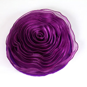 DISCONTINUED - DecoStar™ Pin-able Fabric Flower - Eggplant - Large