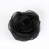 DISCONTINUED - DecoStar™ Pin-able Fabric Flower - Black - Small