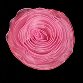 DISCONTINUED - DecoStar™ Pin-able Fabric Flower - Pink - Medium