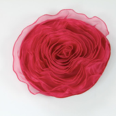 DISCONTINUED - DecoStar™ Pin-able Fabric Flower - Raspberry - Large