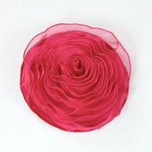 DISCONTINUED - DecoStar™ Pin-able Fabric Flower - Raspberry - Small
