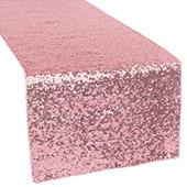 Standard Sequin Table Runner by Eastern Mills - Pink