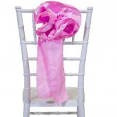 """DecoStar™ 9"""" Satin Flower Chair Accent - Pink"""