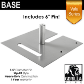 "Valu Series - 18in x 18in Standard Duty 1.5"" Base (Up to 14ft)"
