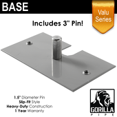 "Valu Series - 8in x 14in Standard Duty 1.5"" Base"