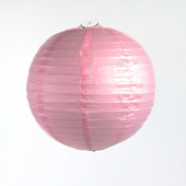 OVERSTOCK / DISCONTINUED ITEM Round Paper Lantern In Pink - Assorted Sizes
