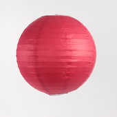 OVERSTOCK / DISCONTINUED ITEM Round Paper Lantern In Red - Assorted Sizes