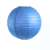 OVERSTOCK / DISCONTINUED ITEM Round Paper Lantern In Blue - Assorted Sizes