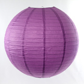 OVERSTOCK / DISCONTINUED ITEM Round Paper Lantern In Wisteria- Assorted Sizes