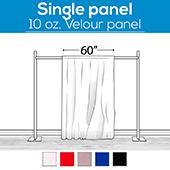 10 oz. Inherently Fire Retardant Polyester Velour - Sewn Drape Panel 60