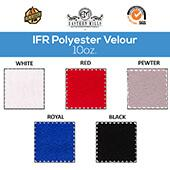 "10oz. Inherently Fire Retardant Polyester Velour by the Yard - 60"" Wide - Choice of Colors"