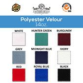 "14oz. Production Performance Polyester Velour by the Yard - 60"" Wide - Choice of Colors"