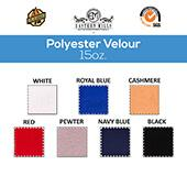 "15oz. Fire Retardant Polyester Velour by the Yard - Economy Decorator Grade - 60"" Wide - Choice of Colors"