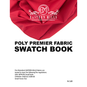 Poly Premier Fabric Swatch Book by Eastern Mills - All Poly Premier Products