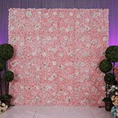 8ft x 8ft Portable Mixed Blush Floral Backdrop Kit