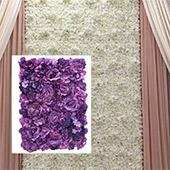 8ft x 8ft Portable Mixed Lavender/Purple Floral Backdrop Kit