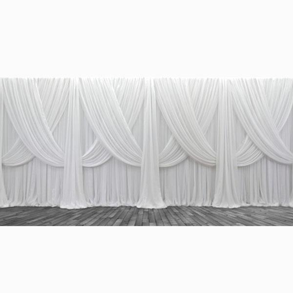 Premium Criss Cross Curtain 4 Panel Backdrop
