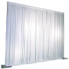 1-Panel Pipe and Drape Kit / Backdrop - 8 Feet Tall (Non Adjustable)