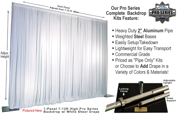Pipe and drape kits pipes and drapes event decor direct for Decor direct