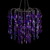 DecoStar™ Purple Teardrop Chandelier