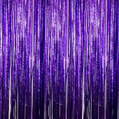 Purple - Cracked Ice Fringe Curtain - Many Size Options