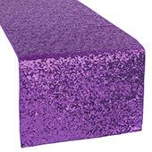Standard Sequin Table Runner by Eastern Mills - Purple