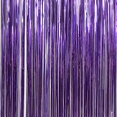 Purple - Metallic Fringe Table Skirt - Many Size Options