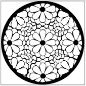 "Daisy Kaleidoscope 1"" Gobo for Eddy Light Gobo Projector"