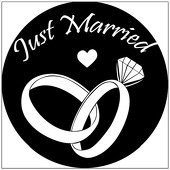 """Just Married 1"""" Gobo for Eddy Light Gobo Projector"""