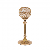 DecoStar™ Real Crystal Goblet/Candle Holder in Gold - 11.5""