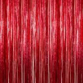 Red - Cracked Ice Fringe Curtain - Many Size Options