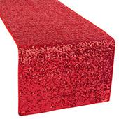 Standard Sequin Table Runner by Eastern Mills - Red