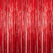 Red - Metallic Fringe Curtain - Many Size Options