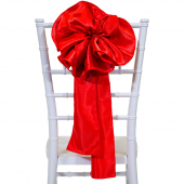 "DecoStar™ 9"" Satin Flower Chair Accent - Red"