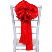 """DecoStar™ 9"""" Satin Flower Chair Accent - Red"""