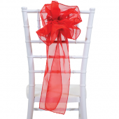"DecoStar™ 9"" Sheer Flower Chair Accent - Red"