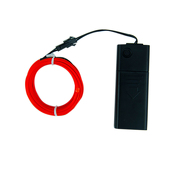 DISCONTINUED ITEM - Battery-Operated Electroluminescent (EL) Wire - 6ft (1.8M) Long - RED