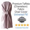 Premium Taffeta (Chameleon) Fabric Chair Cover in Silver - Universal Fit!