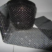 DISCONTINUED ITEM - DecoStar™ Bronze and Silver Rhinestone Mesh -Dark - 30 Foot Roll