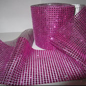 DISCONTINUED ITEM - DecoStar™ Rose Rhinestone Mesh-30 Foot Roll