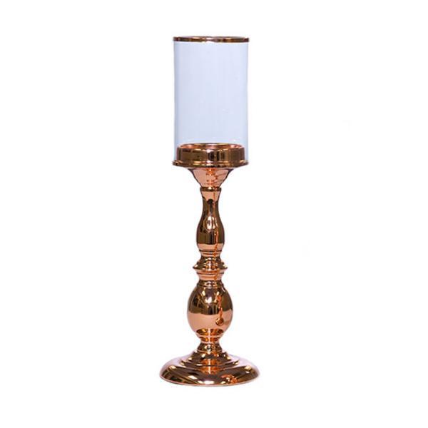 pedestal pillar candle holder rose gold centerpieces. Black Bedroom Furniture Sets. Home Design Ideas